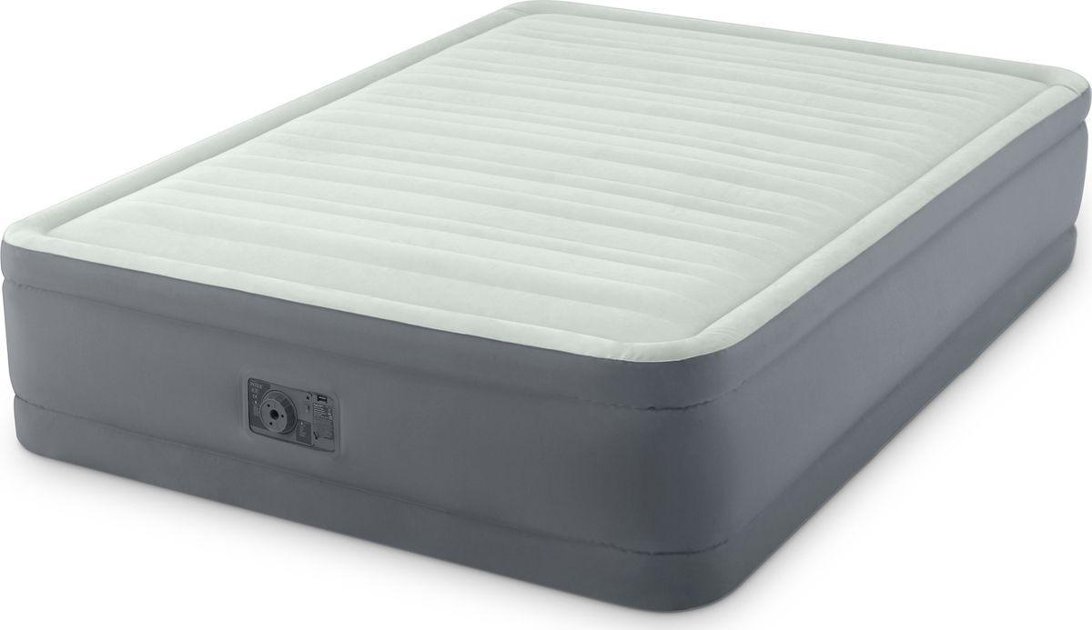 Кровать надувная Intex, с64906, двуспальная, со встроенным насосом, 152 х 203 х 46 см