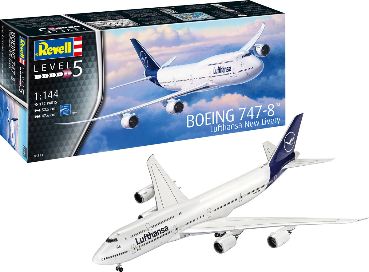 Сборная модель Revell Boeing 747-8 Lufthansa New Livery, 03891R цены