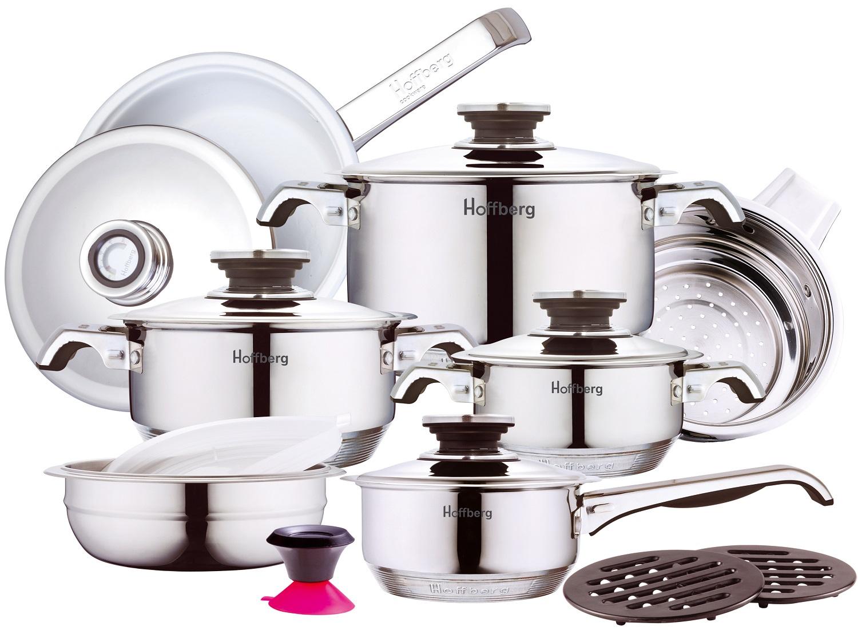 Набор посуды для приготовления BOHMANN 1729HFF, 1729HFF, Нержавеющая сталь набор посуды hoffberg 17 предметов цвет белый 1729hff