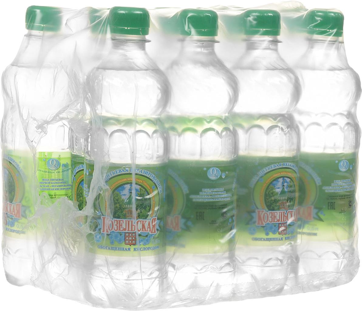 Козельская вода питьевая, 12 шт по 0,5 л