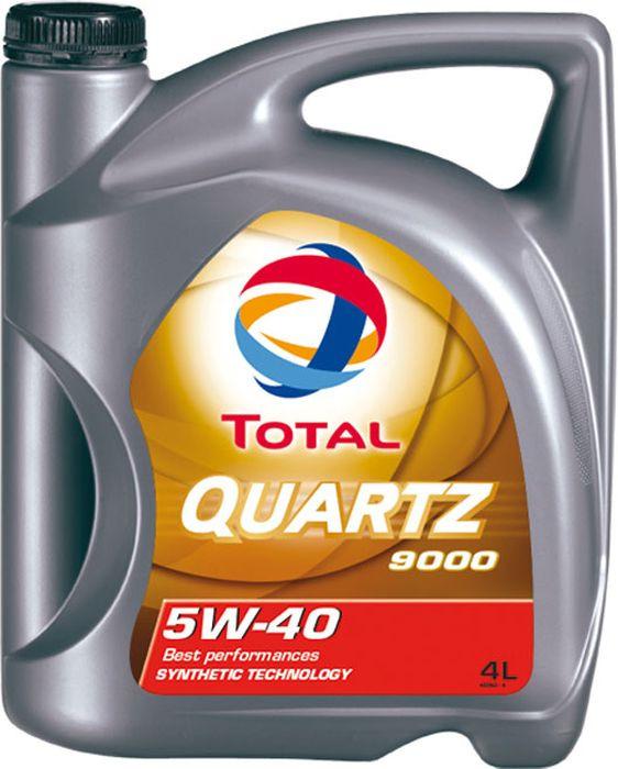 Моторное масло Total Quartz 9000 5W40, синтетическое, 4 л