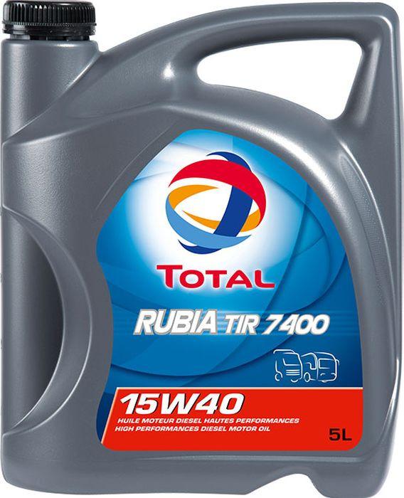 Моторное масло Total Rubia Tir 7400 15W40, синтетическое, 5 л klotz tir 0600psp