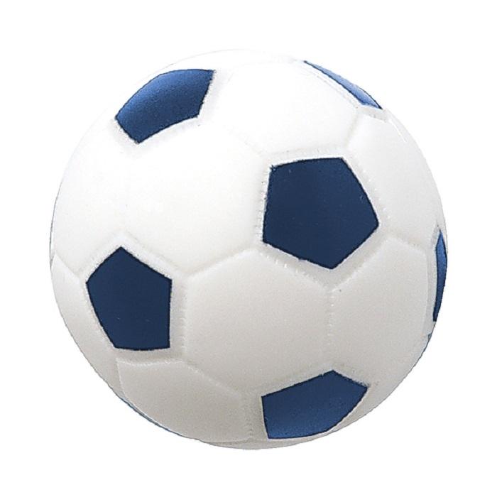 Игрушка для ванной ПОМА Мяч футбольный голубой, белый