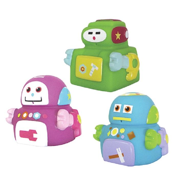Игрушка для ванной ПОМА Роботехника розовый, зеленый, голубой