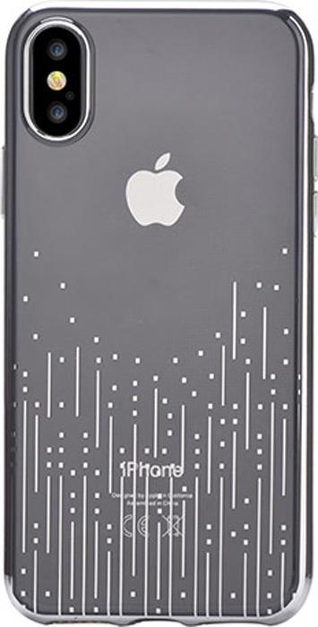 Чехол для сотового телефона Devia Meteor Soft case Silver для Apple iPhone X, серебристый
