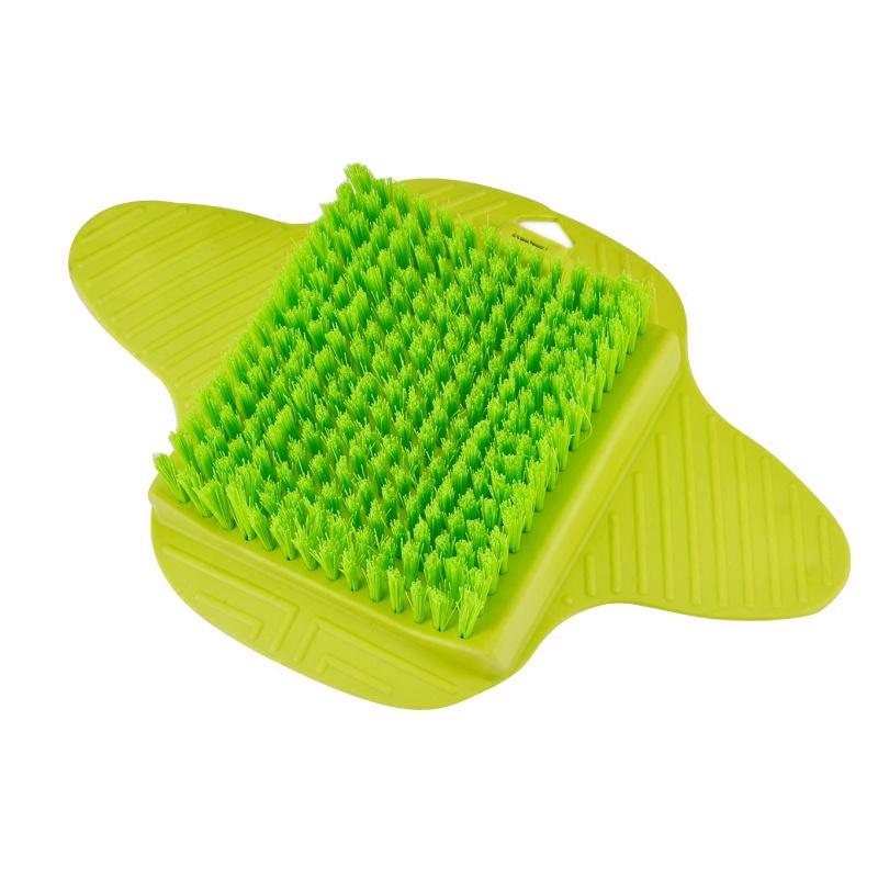 Коврик для ванной MARKETHOT Z04512 щетка на присоске, Z04512, зеленый