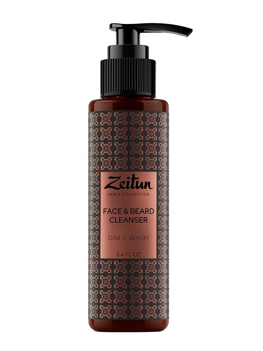 Очищающий гель для умывания для мужчин для лица и бороды Зейтун