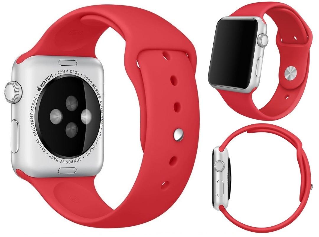 Фото - Ремешок для смарт-часов Aceshley Luxe Red 42, 12389, красный ремешок для смарт часов semolina ремешок силиконовый для apple watch 42 мм gx28 оранжевый оранжевый