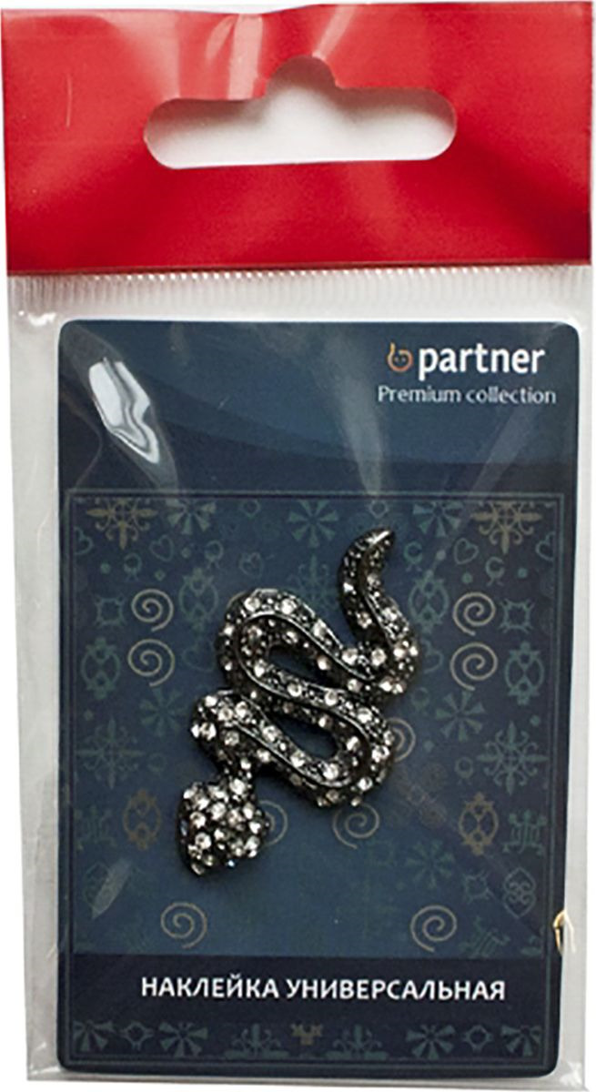 Наклейка на телефон Partner Змея черная, 3,5 х 2,5 х 0,4 см