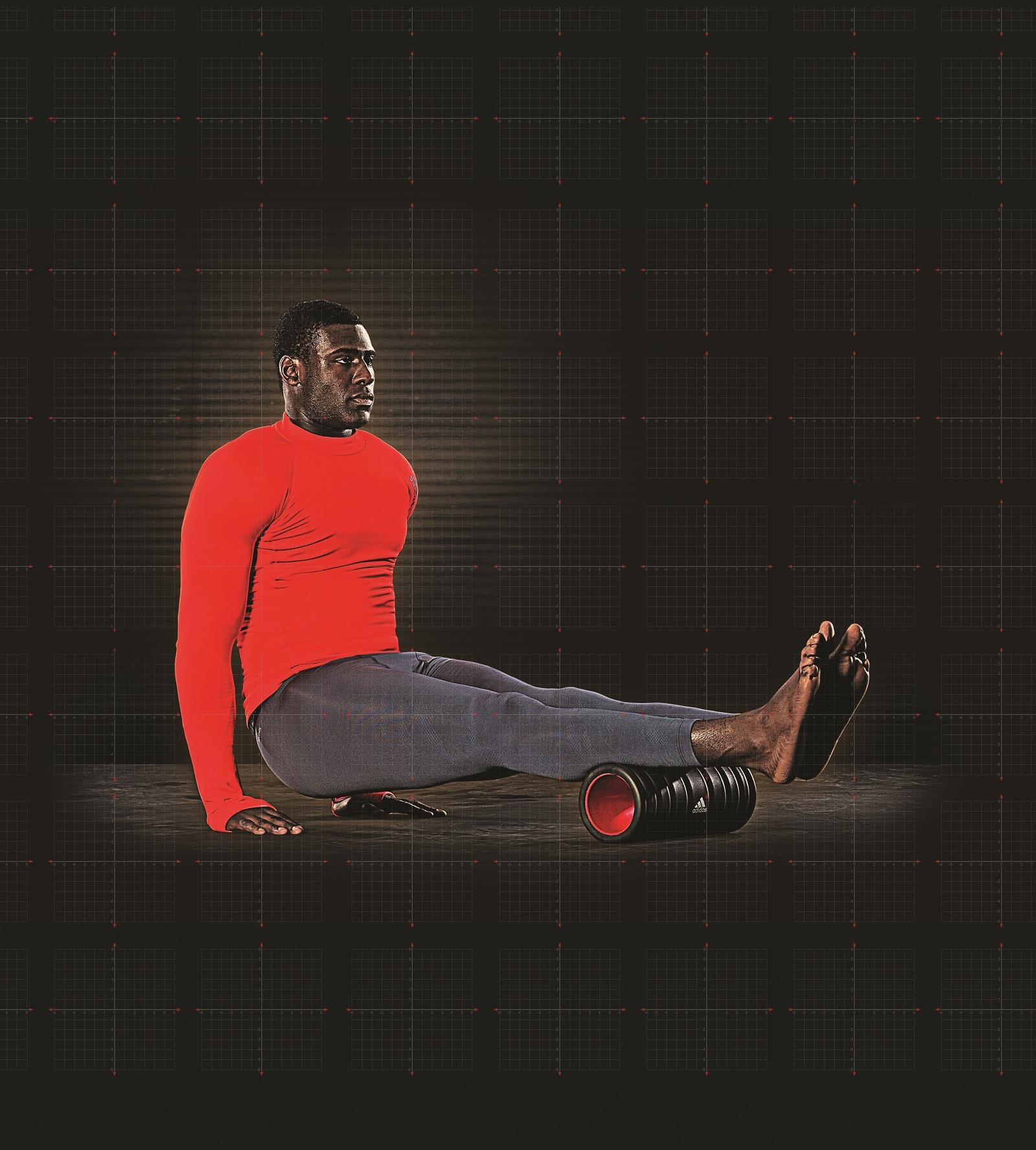 Ролик массажный Adidas нет, черный