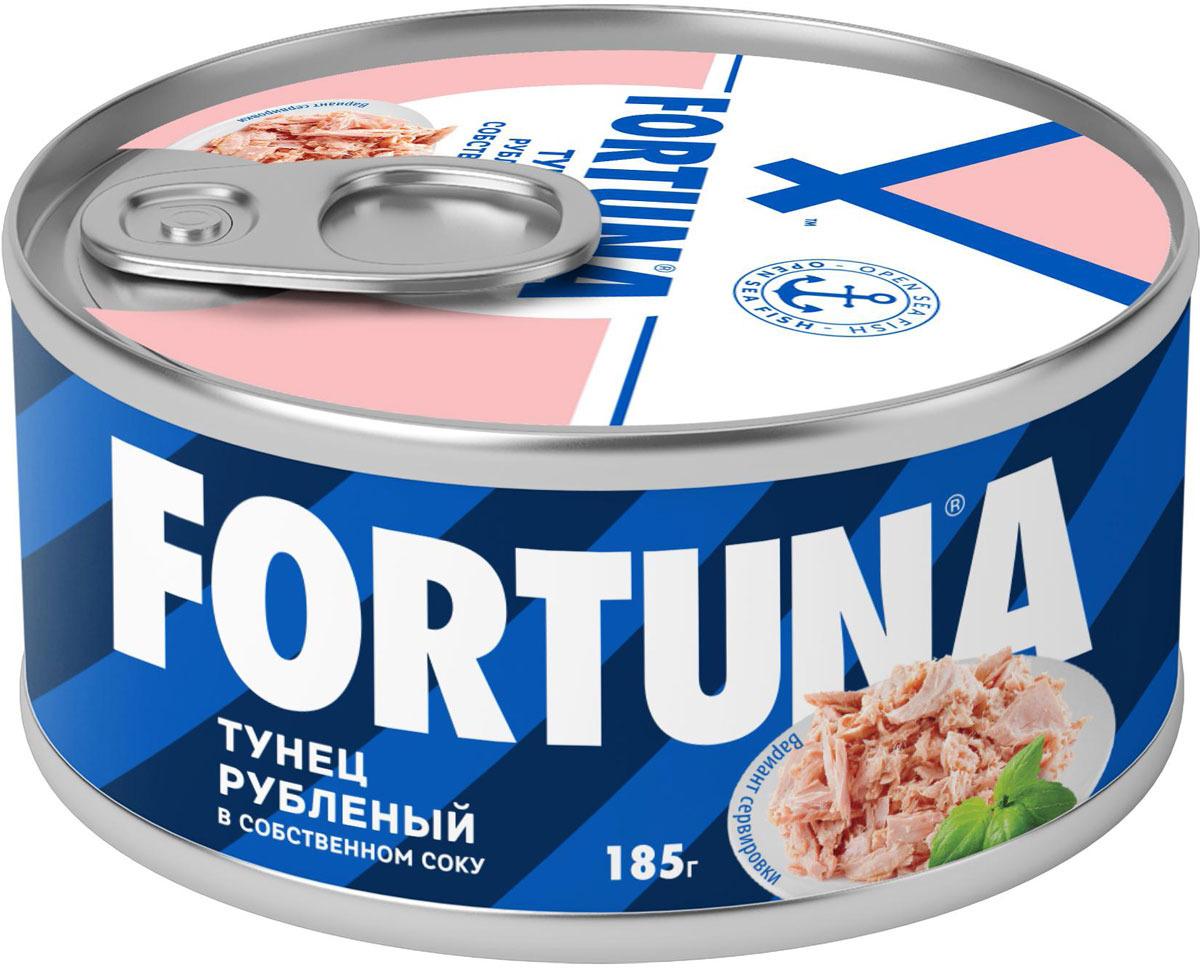 Fortuna тунец рубленый в собственном соку, 185 г цены онлайн