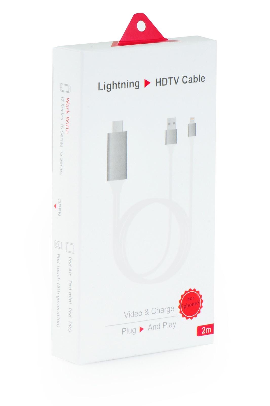 Адаптер-переходник Gurdini Lightning to HDTV cable 2m 1080HD, 905825, белый аксессуар gurdini lightning to hdtv cable 1080hd 2 0m black 905826