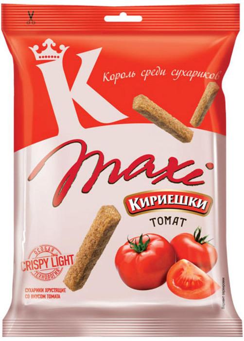 Сухарики ржаные Кириешки Maxi, томат, 60 г сухарики ржаные русские сухарики фермерская сметана 50 г