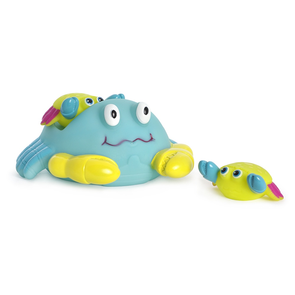 Игрушка для ванной ПОМА Семейка крабиков голубой