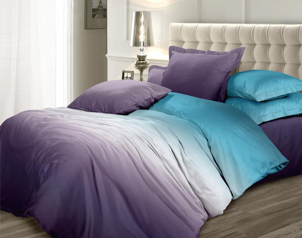 Комплект постельного белья Унисон Омбре Luxury. Вечерняя сюита, 398907, семейный, наволочки 70х70 комплект постельного белья унисон криолло
