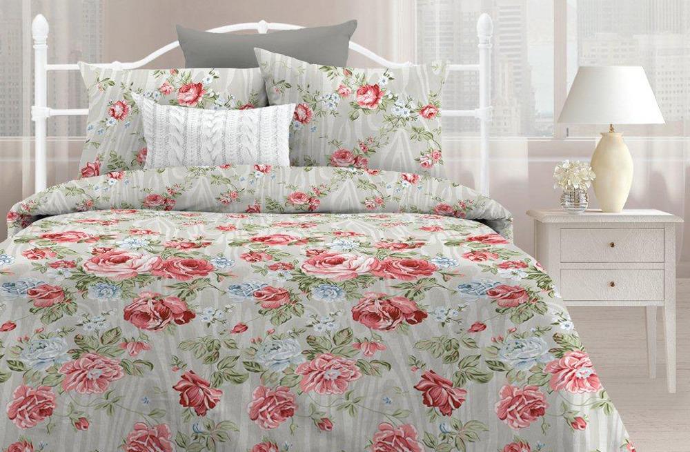 Комплект постельного белья Любимый дом Мирабель, 501740, евро, наволочки 70х70 любимый дом полотенце махровое клео 35 70 любимый дом фиолетовый