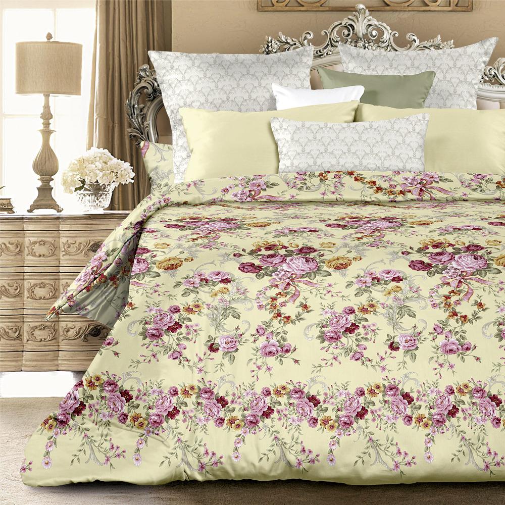 Комплект постельного белья Унисон Розовый триумф, 522125, 1,5-спальный, наволочки 70x70 комплект постельного белья унисон омбре luxury воздушная лаванда 386915 1 5 спальный наволочки 70x70