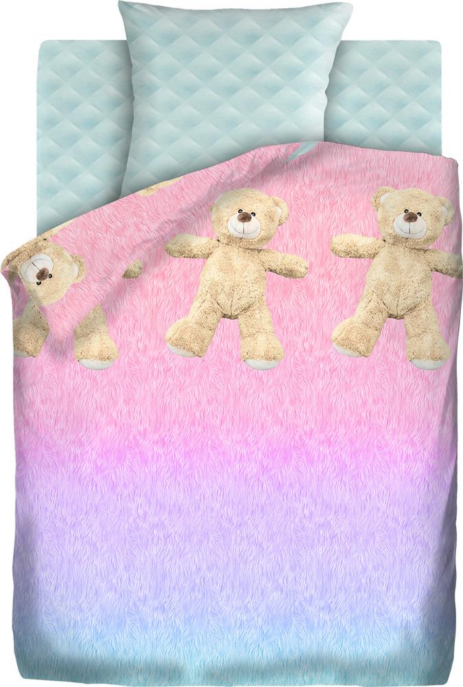 Комплект постельного белья детский 4You Меховой, 536237, 1,5-спальный, наволочки 50x70