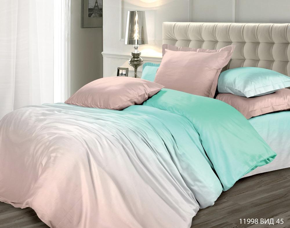 Комплект постельного белья Унисон Омбре Luxury. Безмятежный сон, 537527, 1,5-спальный, наволочки 50x70 комплект постельного белья унисон омбре luxury воздушная лаванда 386915 1 5 спальный наволочки 70x70