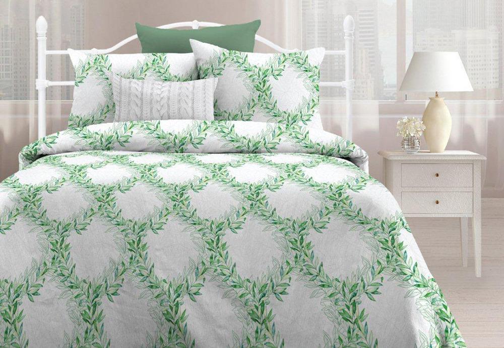 Комплект постельного белья Любимый дом Изумрудный лес, 541167, евро, наволочки 70х70 любимый дом полотенце махровое клео 35 70 любимый дом фиолетовый