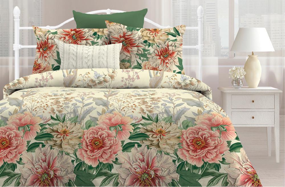 Комплект постельного белья Любимый дом Японский рассвет, 551582, 2-спальный, наволочки 70x70 любимый дом полотенце махровое клео 35 70 любимый дом фиолетовый