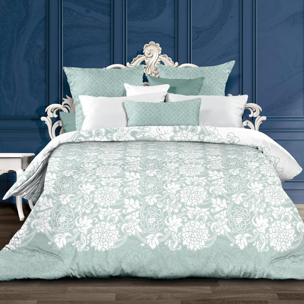 Комплект постельного белья Унисон Ботичелли, 552223, 1,5-спальный, наволочки 70x70 комплект постельного белья унисон бархат