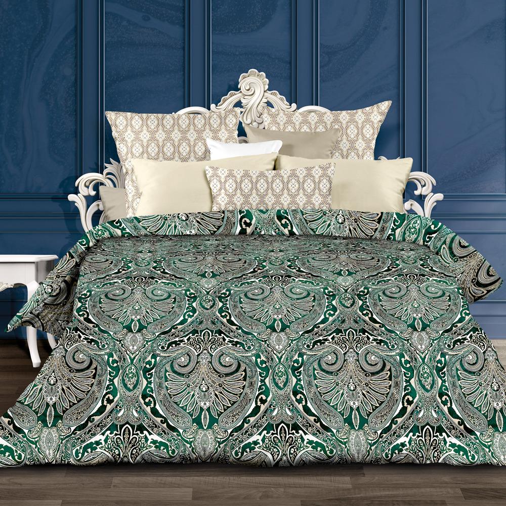 Комплект постельного белья Унисон Сапфир, 556881, 1,5-спальный, наволочки 70x70 комплект постельного белья унисон бархат