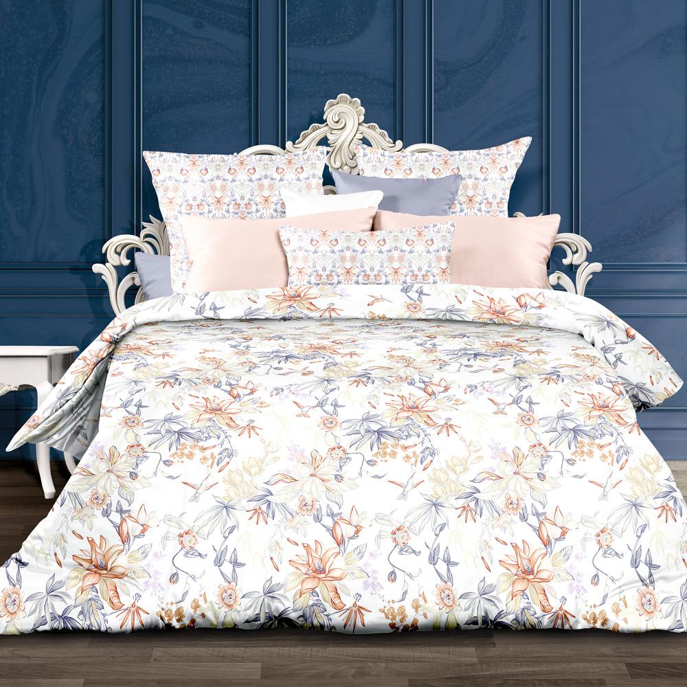 Комплект постельного белья Унисон Орнела, 556884, 1,5-спальный, наволочки 70x70 комплект постельного белья унисон омбре luxury воздушная лаванда 386915 1 5 спальный наволочки 70x70