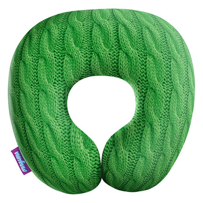 Игрушка антистресс Мнушки Подушка под шею «Вязаные косички», H3434С1608A111GR зеленый