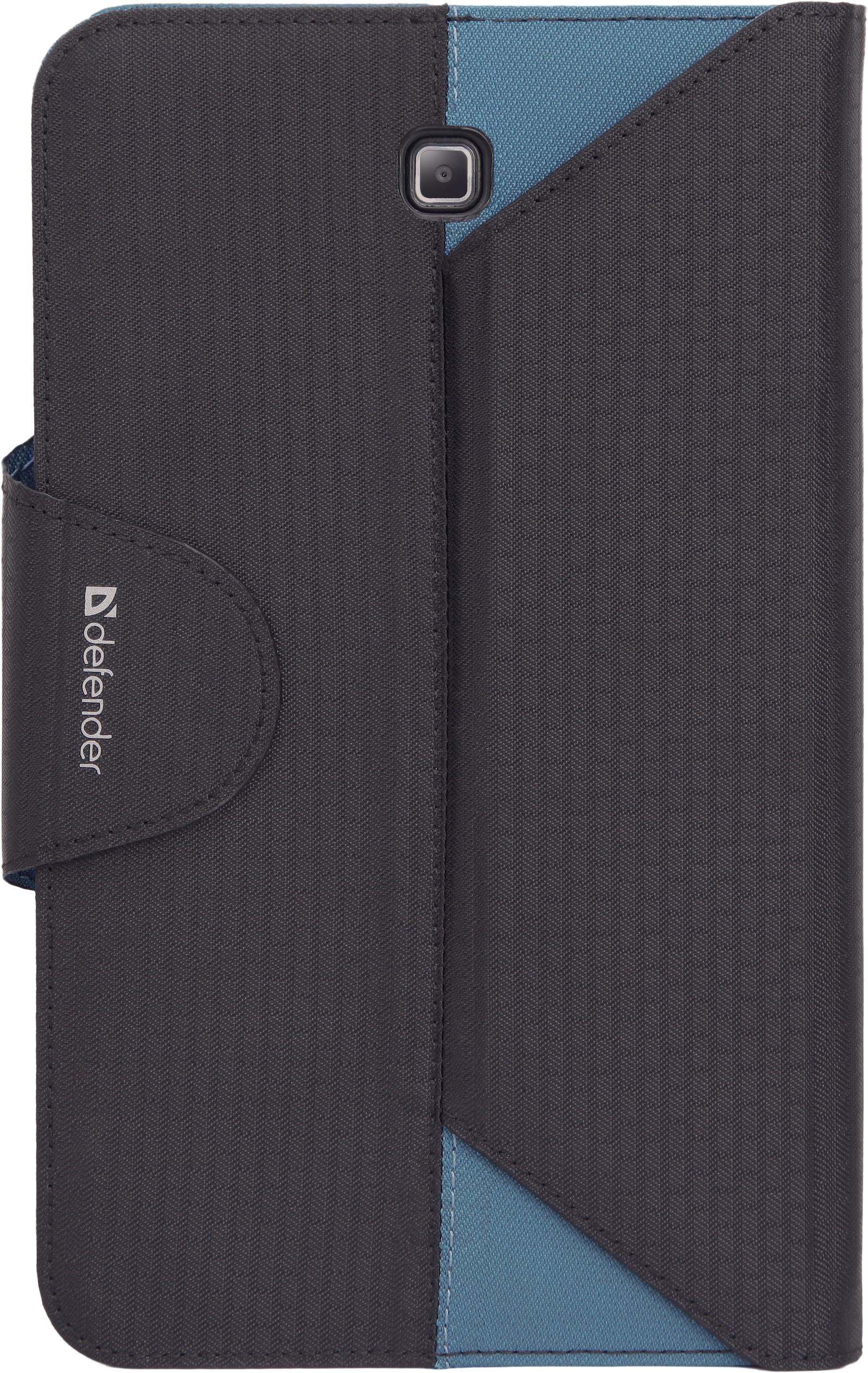 Чехол для планшета Defender Double case, 26074, черный, синий