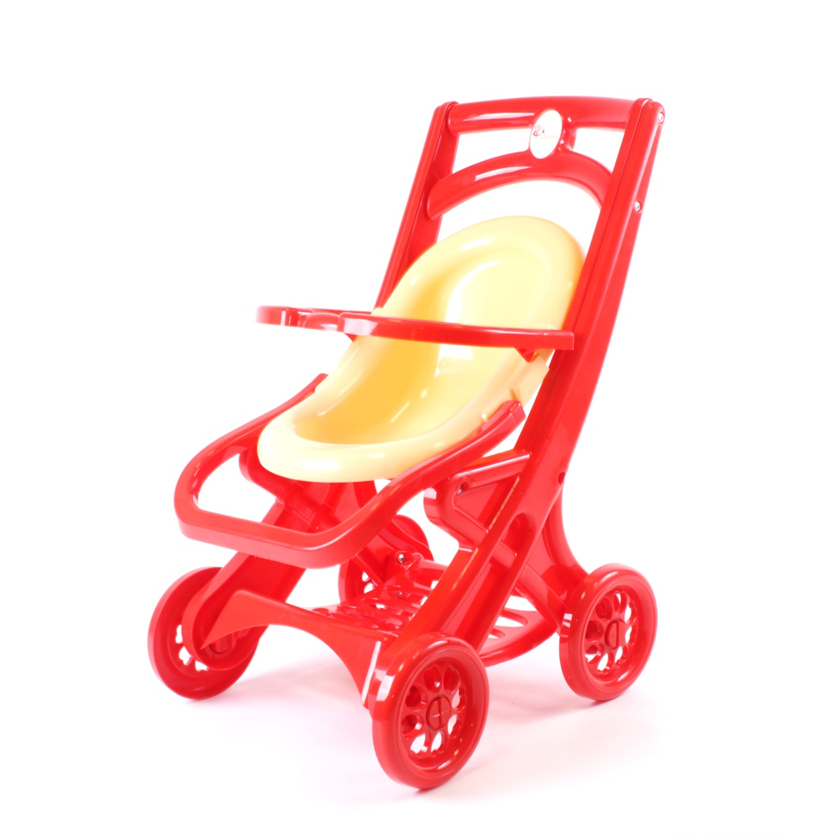 коляска для кукол Doloni Коляска кукол, 0122/03 красный, бежевый