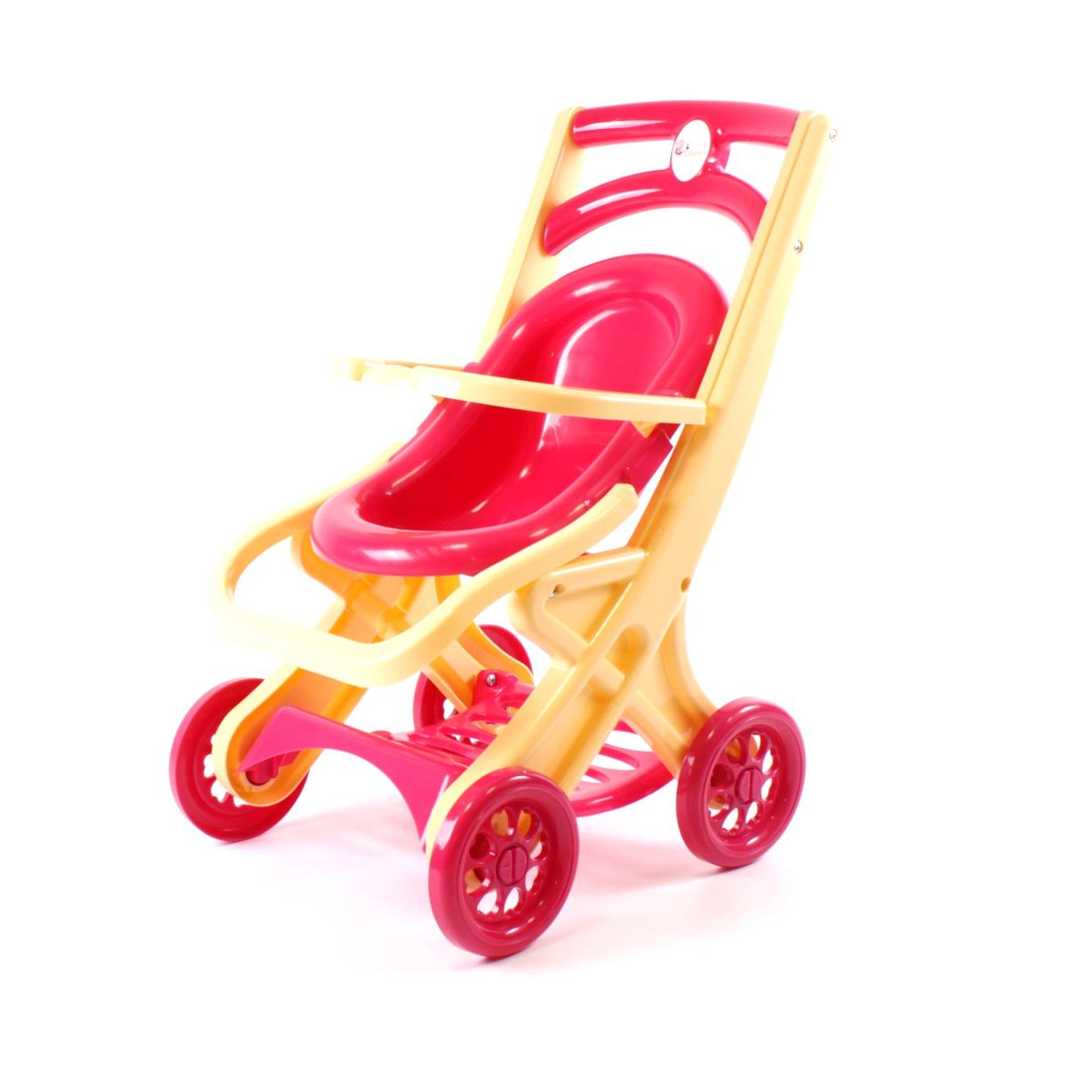 Транспорт для кукол Doloni Коляска для кукол, 0122/01 красный, бежевый