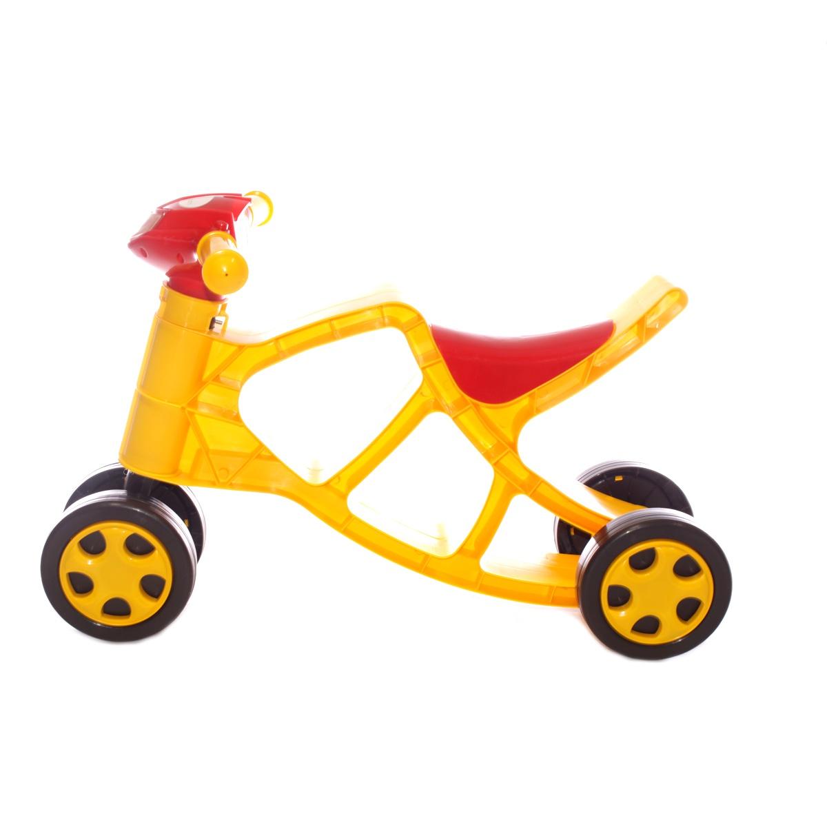 Каталка Doloni Толокар, 0137/03 желтый, красный детская горка doloni развлечение желтый синий