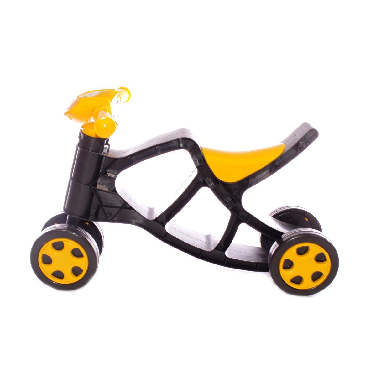 Каталка Doloni Толокар черный, желтый детская горка doloni развлечение желтый синий