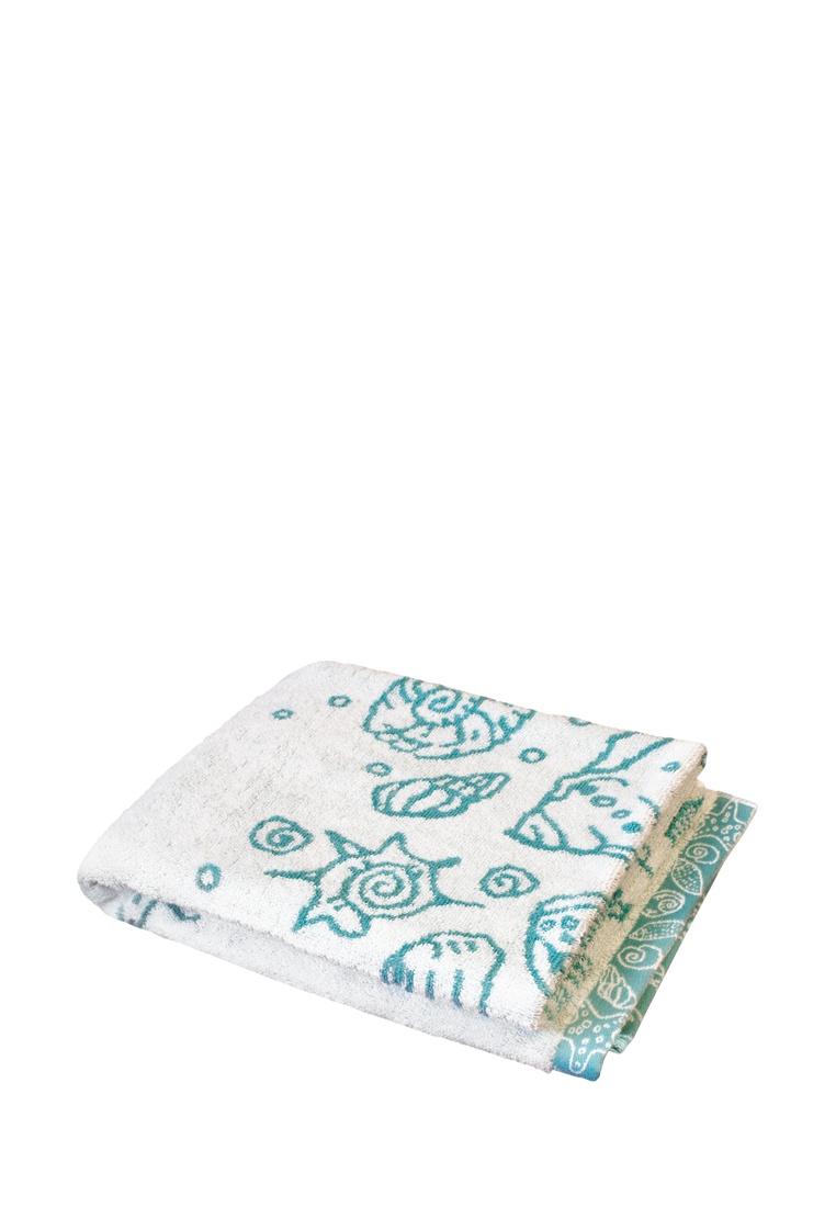 Полотенце банное DeНАСТИЯ Полотенце для тела, 70*130 см, голубой, слоновая кость полотенца william roberts полотенце банное aberdeen цвет queen shadow серо голубой 70х140 см