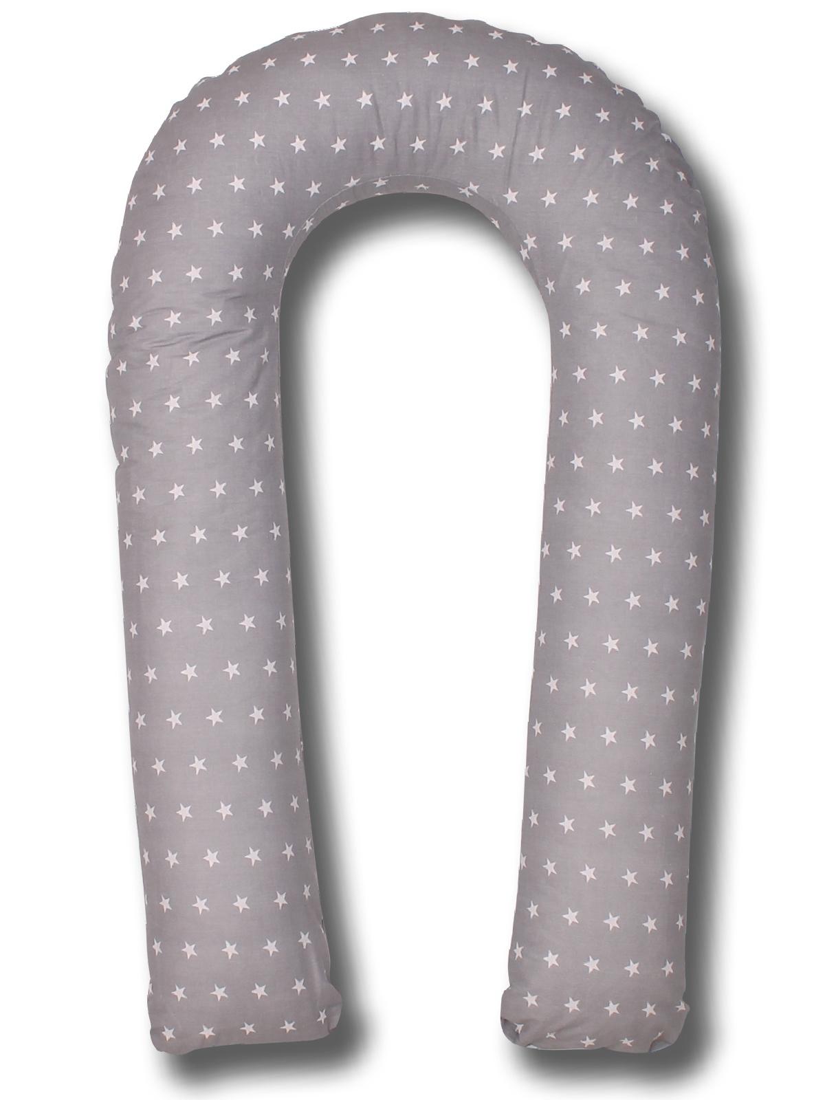 Подушка для кормящих и беременных Body Pillow форма U звезды, серый