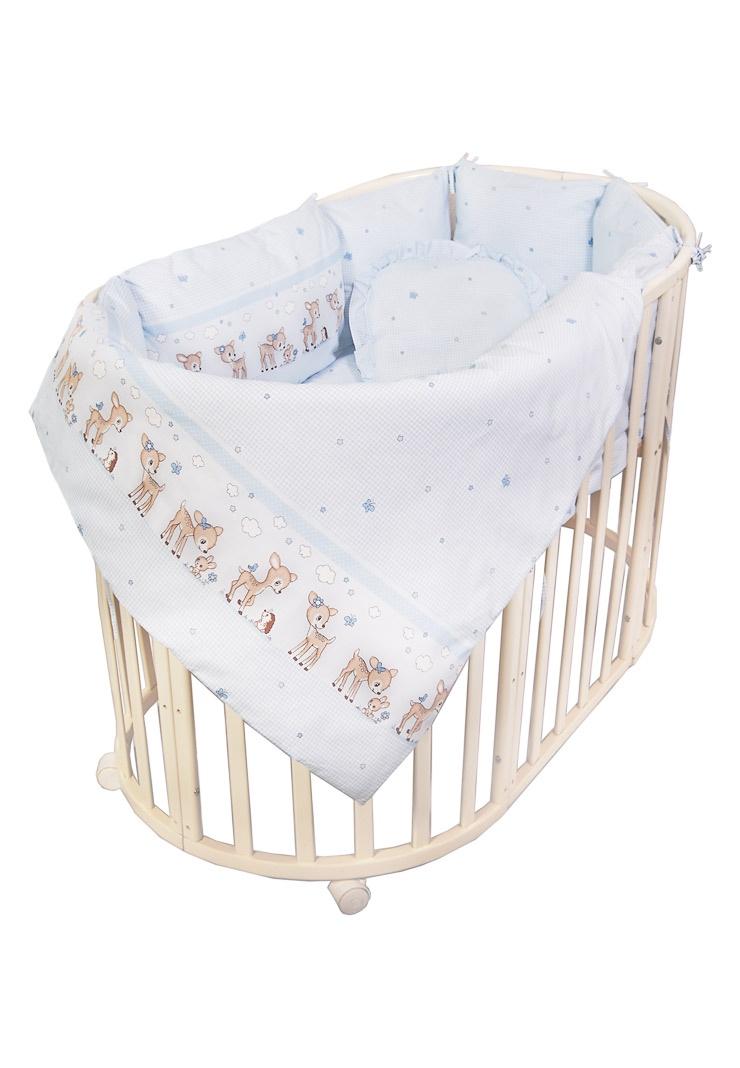 цена на Комплект белья для новорожденных Сонный гномик Оленята, 727-10_1, голубой