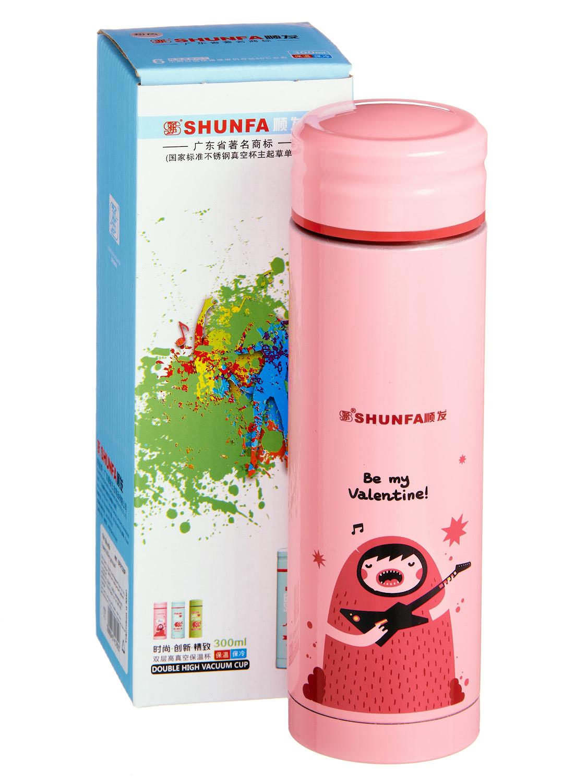 Термокружка SHUNFA SFXY300, SFXY300P, светло-розовый термокружка металлическая