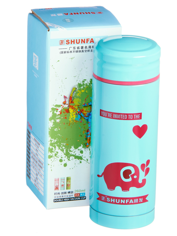 Термокружка SHUNFA SFXY260, SFXY260B, голубой термокружка металлическая