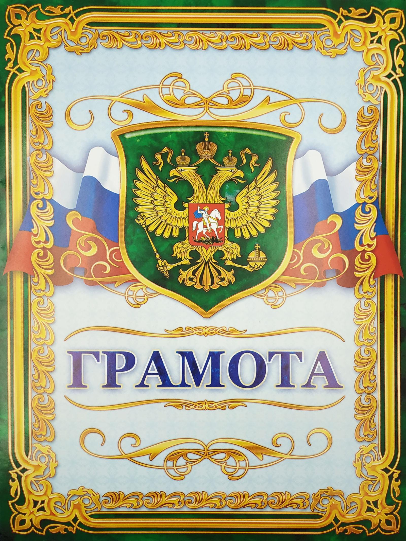 Бланк для грамоты ЛиС Двойные грамоты6967Грамота подходит для вручения организациям, государственным служащим. Выполнена из картона с яркой, насыщенной печатью. Плотность картона 190 г/м.