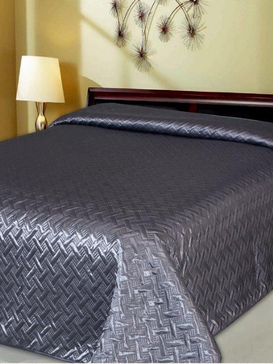"""Покрывало DeНАСТИЯ Покрывало на кровать """"Палермо"""", 240*260 см, серый"""