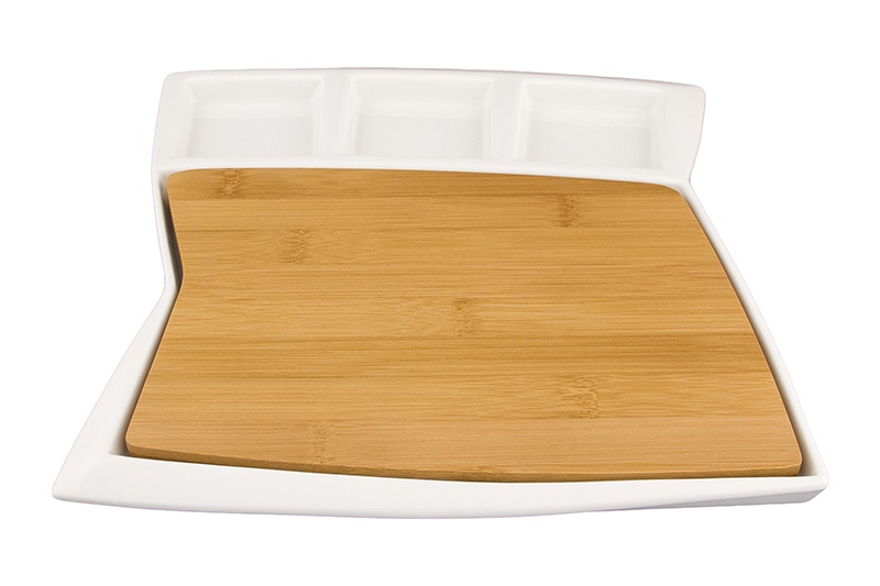 цена на Блюдо Elan Gallery Айсберг, белый, коричневый