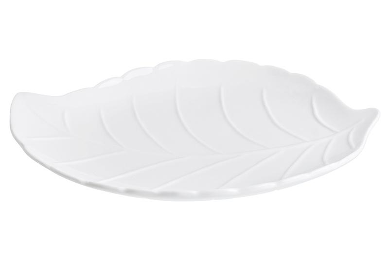 Блюдо Elan Gallery Листок, 540251, белый соусник elan gallery листок 15 7 5 2 5 см 2 секции