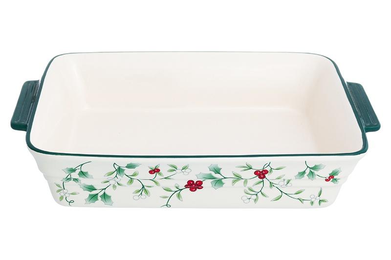 Блюдо Elan Gallery Ягодное ассорти, 830236, белый, зеленый блюдо для запекания elan gallery цветочная симфония цвет красный 1 6 л