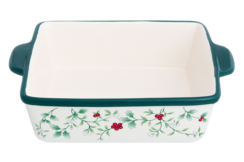 Блюдо Elan Gallery Ягодное ассорти, 830239, белый, зеленый блюдо для запекания elan gallery цветочная симфония цвет красный 1 6 л