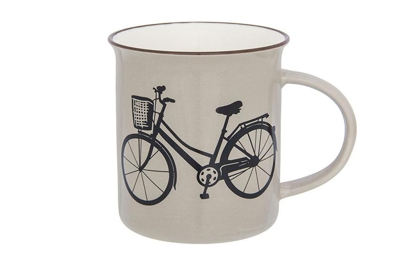 Кружка Elan Gallery Велосипед, 130015, бежевый130015Фарфоровая кружка классической формы объемом 320 мл с удобной ручкой. Подходит для любых горячих и холодных напитков, чая, кофе, какао.