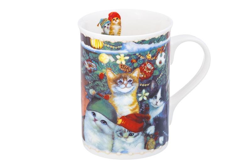 Кружка Elan Gallery Кошки, 940186, зеленый, синий, коричневый кружка классик кошки 300 мл