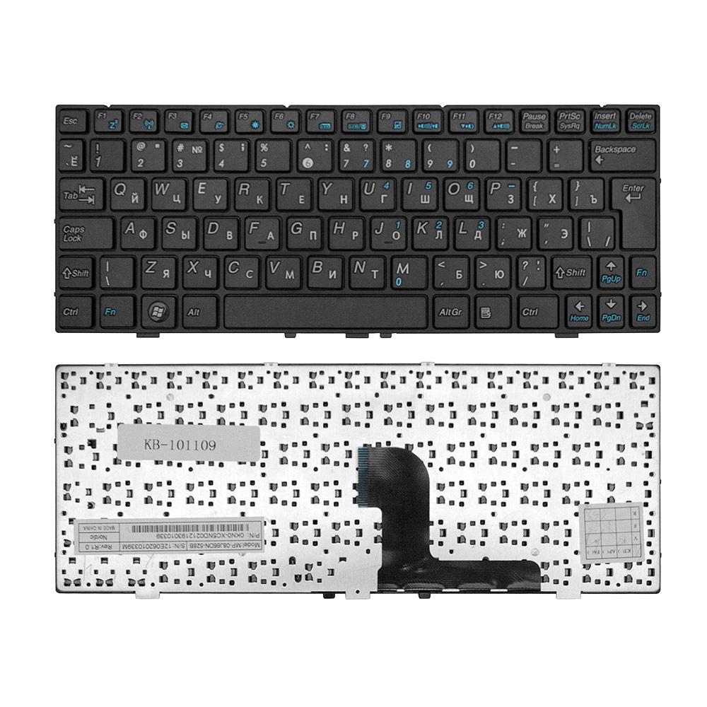 Клавиатура TopOn DNS 0127618, 0129680, 0138569, Medion E1226, MD98570 Series. Г-образный Enter. С черной рамкой. PN: MP-08J66B0-528B., KB-101109, черный