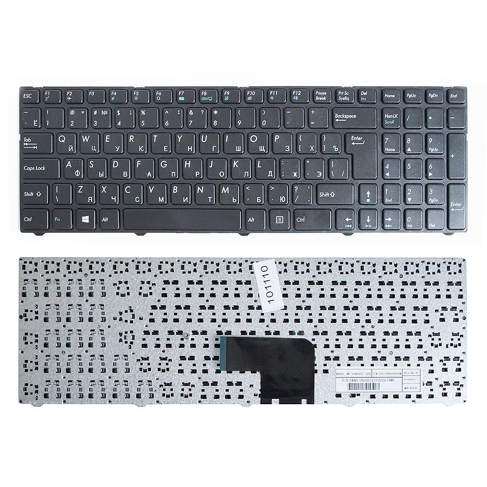 Клавиатура TopOn DNS Pegatron C15, C17 Series. Г-образный Enter. С черной рамкой. PN: MP-13A83SU-5283, 0KN0-CN4RU12., KB-101110, черный