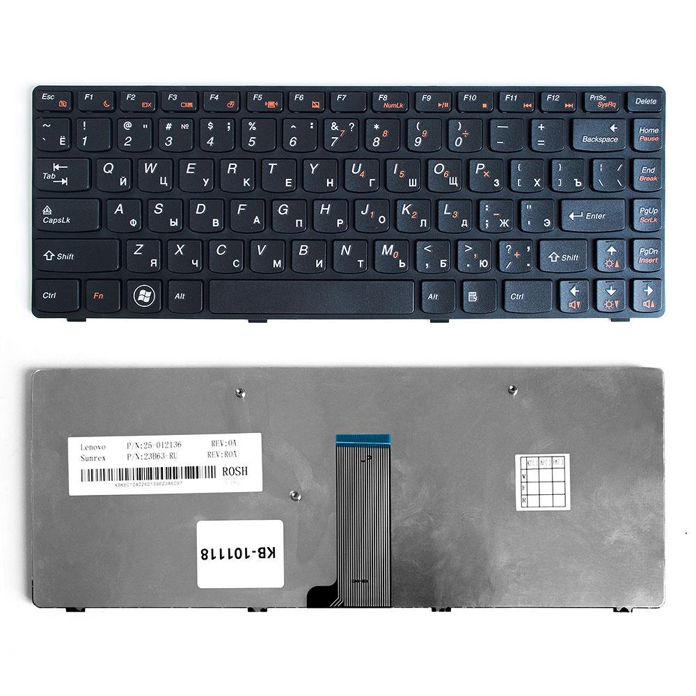 Клавиатура TopOn Lenovo IdeaPad B480, G480, Z380, Z480 Series.  Плоский Enter.  С черной рамкой.  PN:  25202118, 9Z. N5TSQ. T0R. , KB-101118, черный TopON